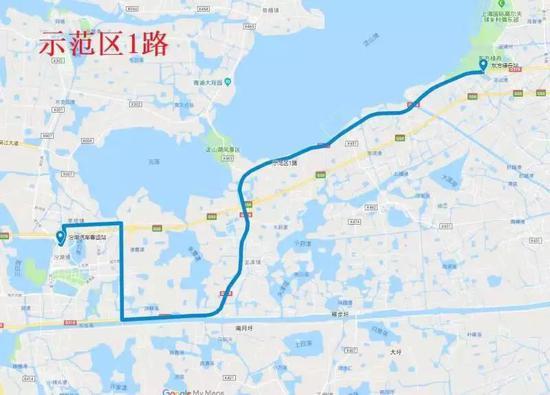 示范区1路:上海东方绿舟站—汾湖汽车客运站。上海发布 图