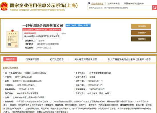 来源:国家企业信用信息公示系统网站