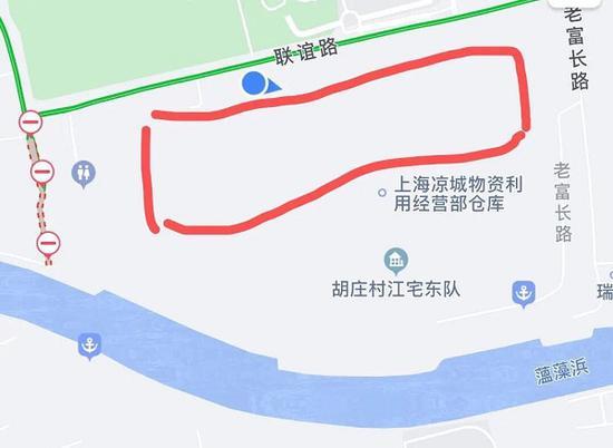图说:小区所处地无道路显示