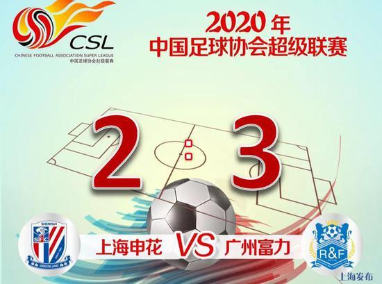 连扳两球仍然遗憾告负 绿地申花2:3广州富力