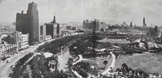 20世50年代,人民广场部分及南京西路、国际饭店