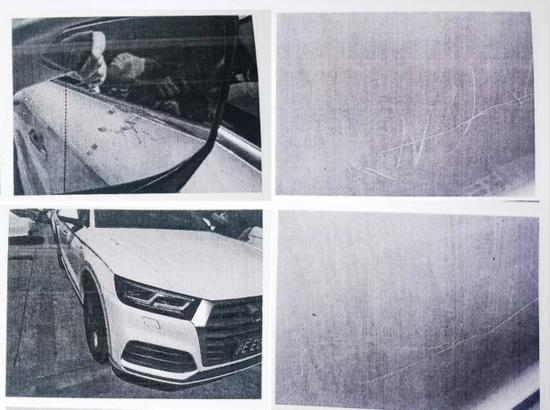 图说:车辆损伤照片。