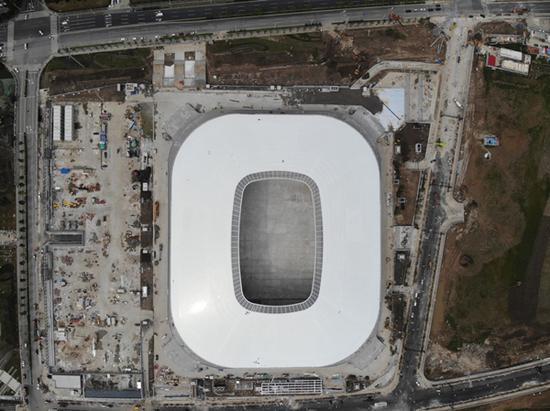 图说:浦东足球场航拍图 采访对象供图