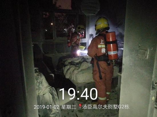图说:今年1月2日,小区内一家底层住户家里突发火灾 来源/居民供图(下同)