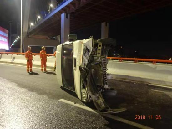 图说:事故现场。黄浦公安分局供图