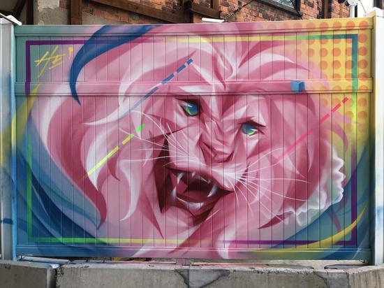 莫干山路上的涂鸦墙作品 本文图片均由普陀区政府供图