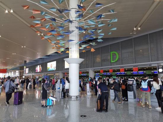 国庆长假期间上海机场国内航班量客运量创历史同期新高
