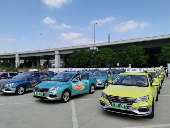沪建新能源出租车进博会保障车队 配备近2500辆纯电车