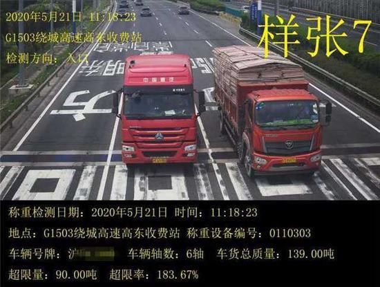 上海高速收费口超限检测点达123