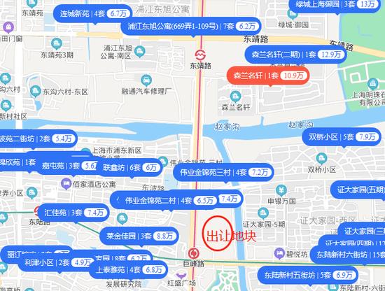 浦東商住辦綜合地60億元成交 競得人為嘉里建設聯合體