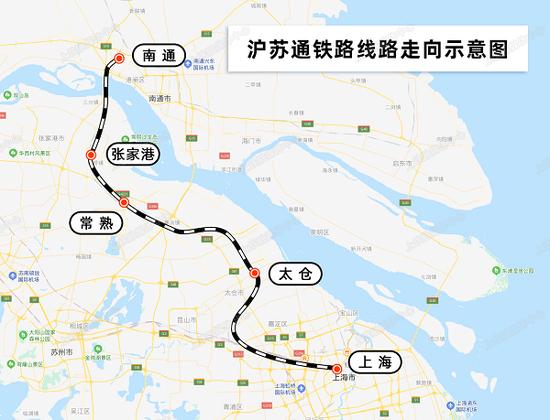 沪苏通铁路今日开通运营 推动长三角一体化发展