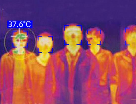 智能头盔N901可在大规模人流中无感巡查出发热人员