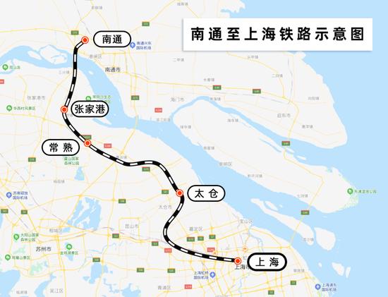 通沪铁路即将开通 预计两地之间出行时间缩至1.5小时
