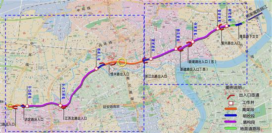 北横通道杨浦段明起进行道路翻交 交通组织方案一览