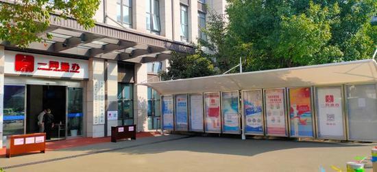 长宁区行政服务中心进行微改造、微更新