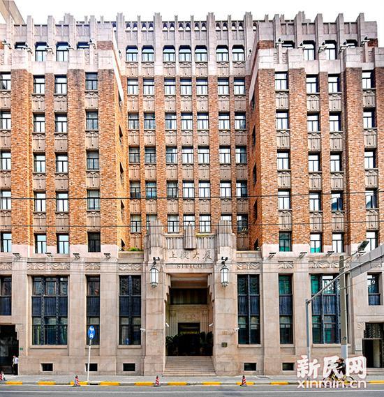 大陆银行大楼的外立面为装饰艺术风格建筑。新民网 图