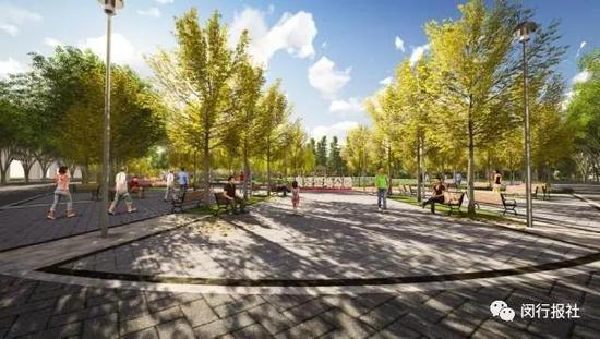 在植物设计上,在保证四季都有景观外,公园还将集中 种植湿地植物和