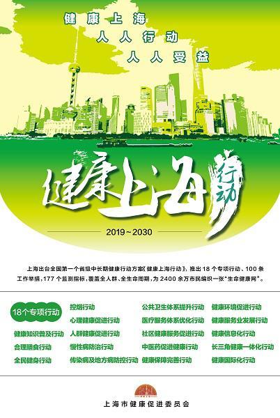 """图说:""""健康上海行动""""18个专项行动 来源/采访对象供图(下同)"""