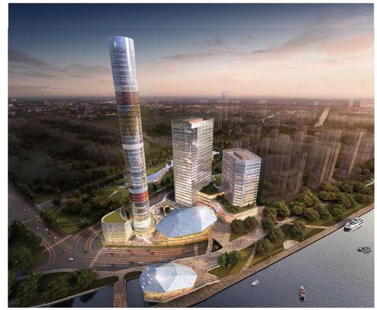 上海滨江将添新地标:高达180米 主塔结构被称定海神针