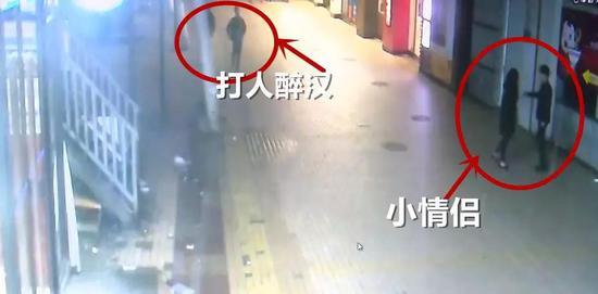 小情侣地铁站内莫名被殴打 打人醉汉:我被绿了想打人
