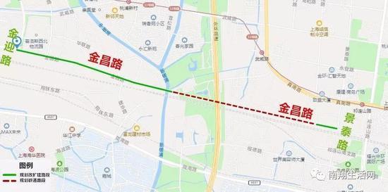 △金昌路工程一标段示意图