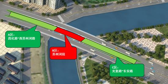 长寿路桥改造示意图