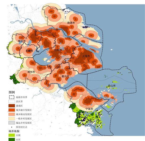 """上海大都市圈圈层发展体系""""上海大都市圈规划"""" 微信公众号"""