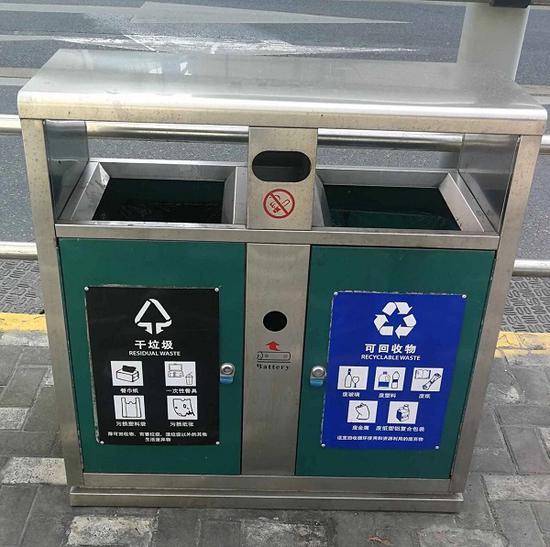 图说:道路废物箱 来源/采访对象供图