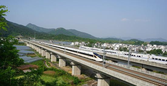 长三角铁路将调图 通沪铁路一期初期计划开46对动车组
