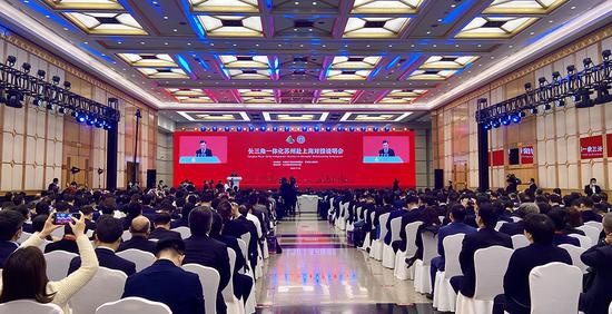推进长三角一体化和沪苏同城化 沪苏两地90个项目签约