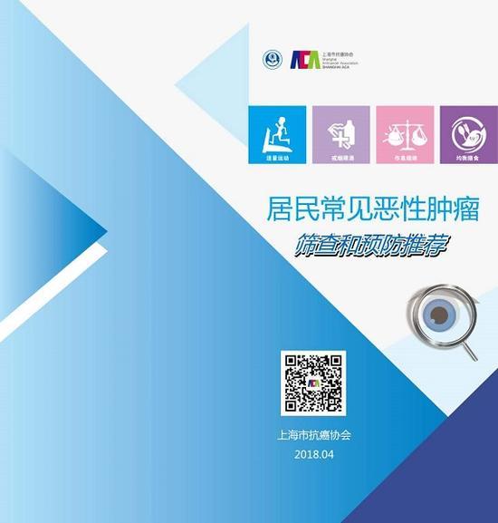 图说:上海市抗癌协会发布《居民常见恶性肿瘤筛查和预防推荐》 上海市抗癌协会供图(下同)