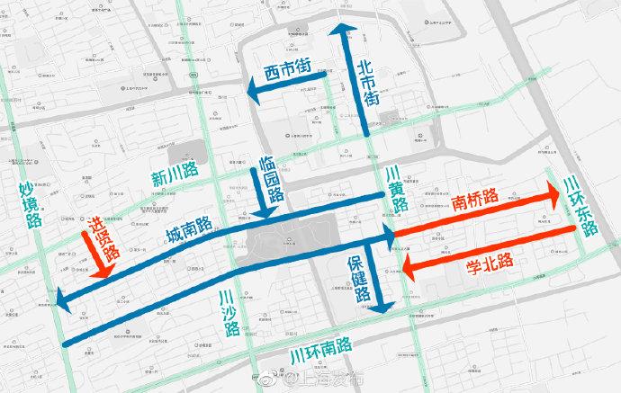川沙新增3条单行道缓解交通拥堵 下周一起正式实施