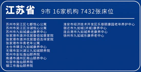 首批长三角异地养老机构名单发布 20城57家养老机构入选
