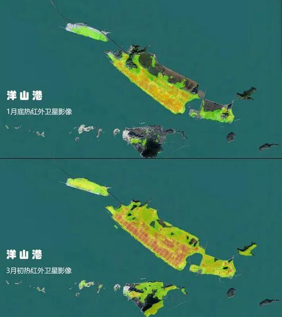 洋山港卫星图比较