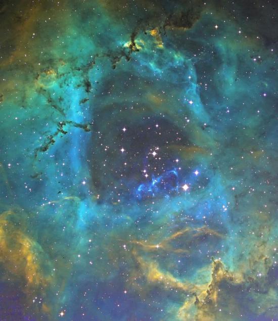 NGC2239麒麟座玫瑰星云中心。徐卫斌 摄