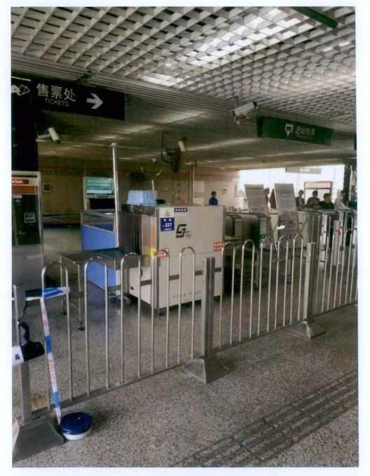 案发现场 上海铁路运输检察院 供图