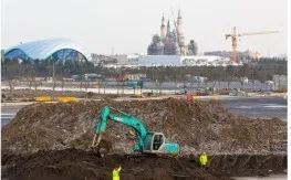 建设初期的迪士尼乐园城堡区域