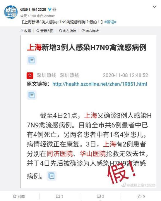 上海市卫健委官方微博截图