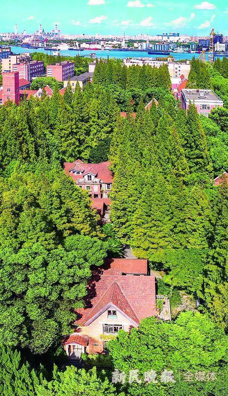 图为上海理工大学现存1906年至1948年间建造的各类建筑物40余幢,拥有上海高校中规模最大的市级优秀历史建筑群