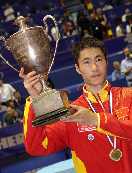 2007年萨格勒布世乒赛上,王励勤夺得男子单打冠军。