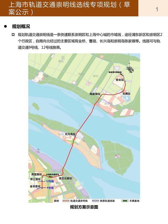 轨交崇明线规划示意图 上海地铁官网截图