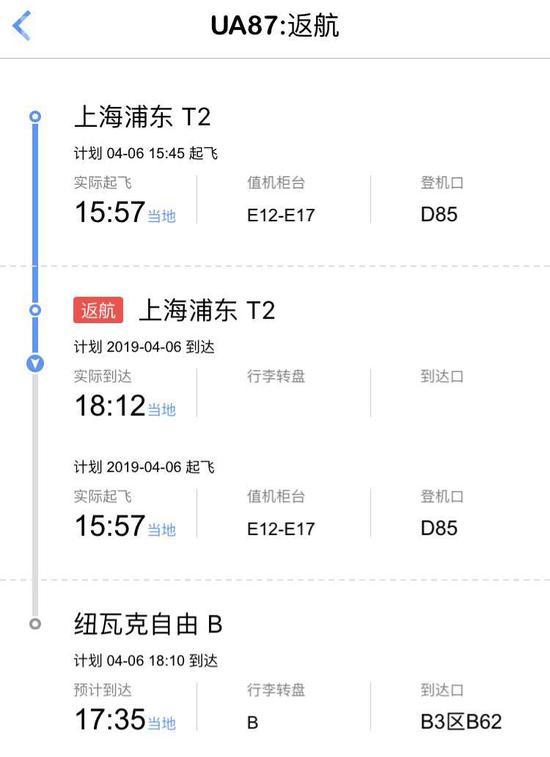 浦东机场航班起飞后返航 执飞航班波音777-200ER飞机