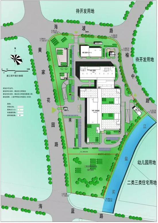 江桥医院建设平面图