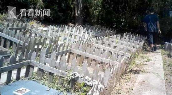 河边的四排墓碑,藏于后院深处
