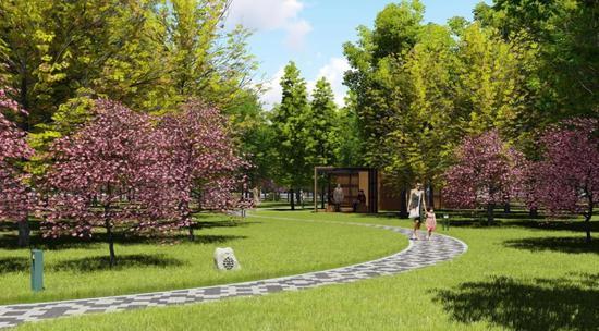 松江广富林东路休闲公园或将年底开放 总面积5.8万㎡