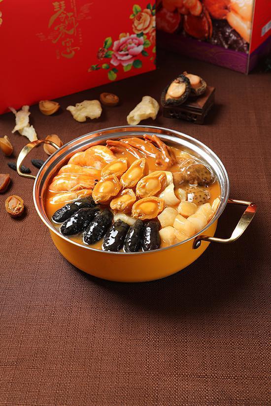 丰收日佛跳墙年夜饭套餐,烧锅盛,可直接加热上桌。