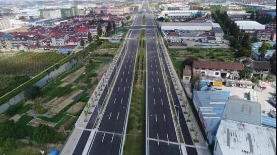 宝山一南北向大动脉新进展 5.2公里道路主体建成开放