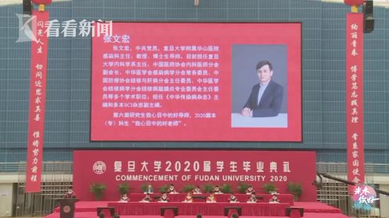 张文宏寄语复旦学子:毕业生是世界真正的未来