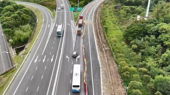 G40公路陈海公路D匝道整治工程通车 有助缓解拥堵