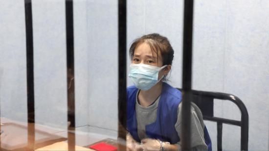 犯罪嫌疑人蔡倩(化名) 本文图片均为上海青浦区人民检察院提供